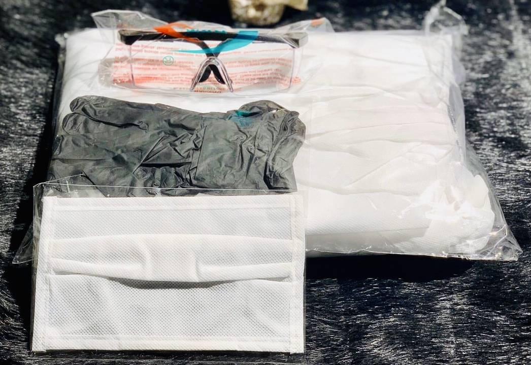 【法人様向け】感染予防 セット×1000個(衣装・手袋・ゴーグル・フェイスマスク)